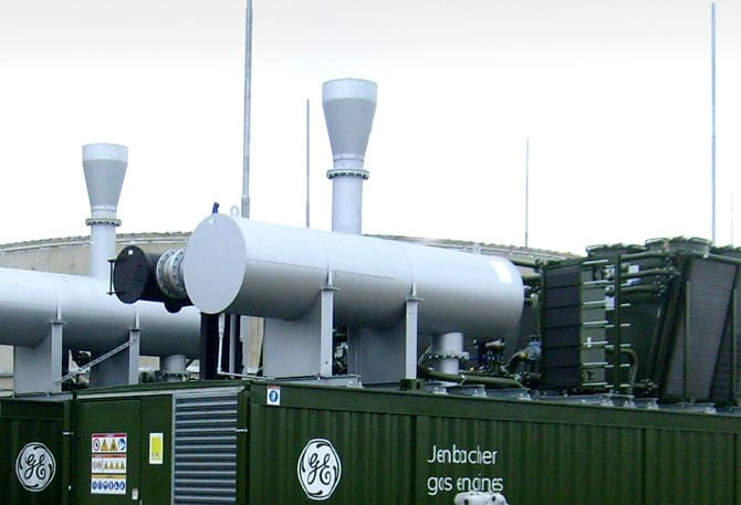 Containerised Jenbacher biogas engines at Stoke Bardolph - Clarke Energy