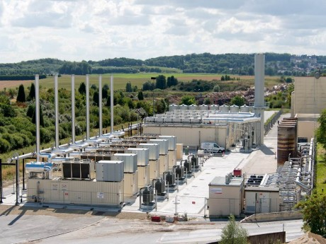 The largest landfill gas power plant in France at Plessis Gassot