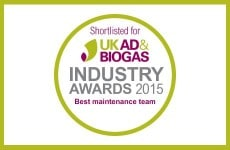 Clarke Energy shortlisted for 3 UK AD & Biogas Industry Awards 2015