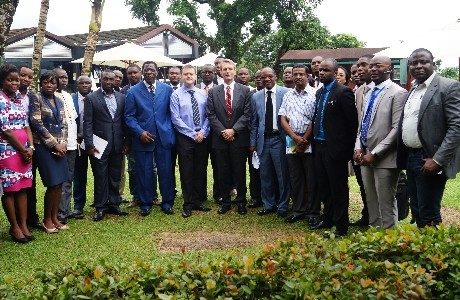 Delegates at Clarke Energy's launch event in Cameroon including British High Commissioner Brian Olley.