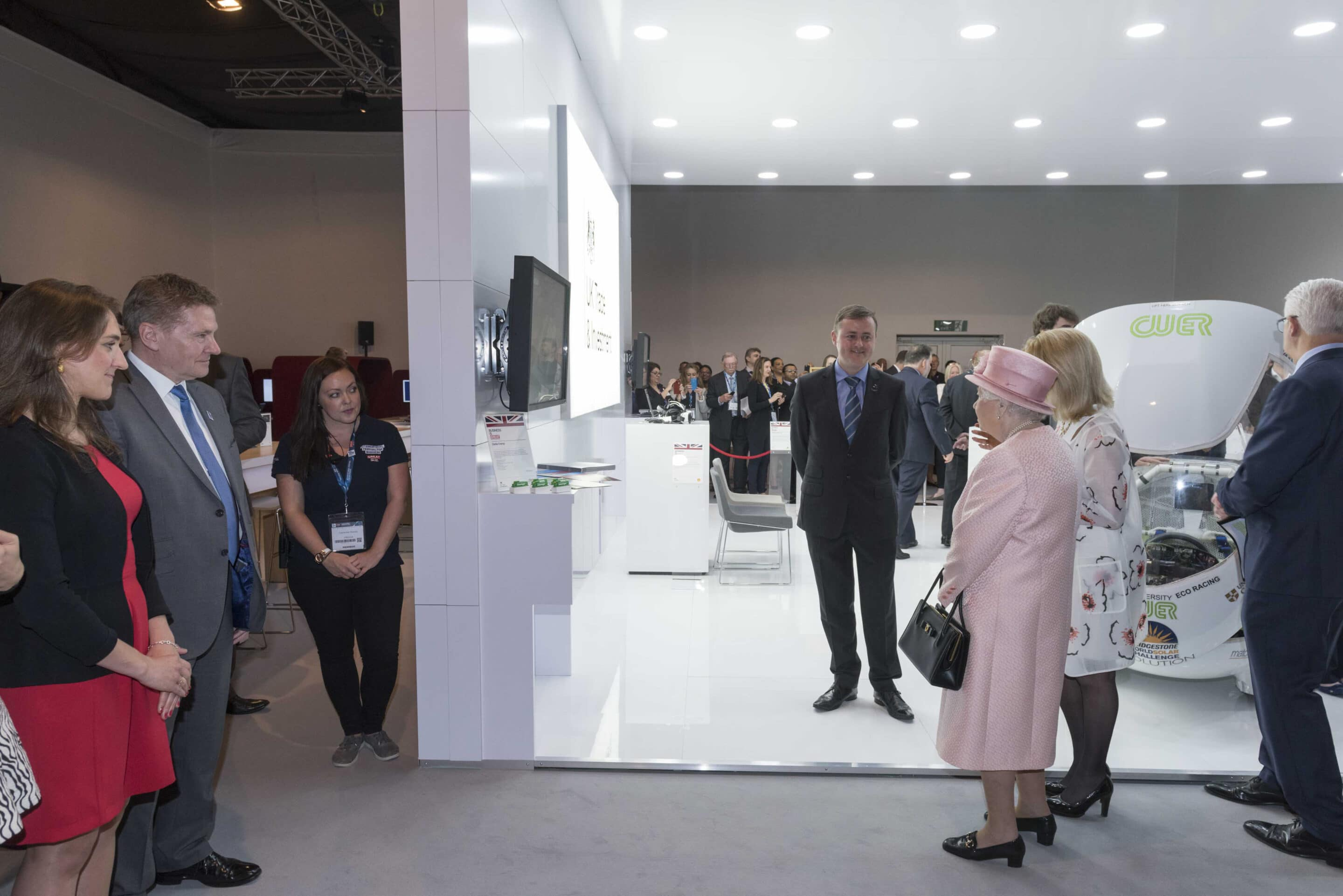 IFB2016 Liverpool Queens visit With Dr. Catherine Raines Chief Executive UK Trade & Investment and chats with Alex Marshall of Clarke Energy Knowsley Liverpool