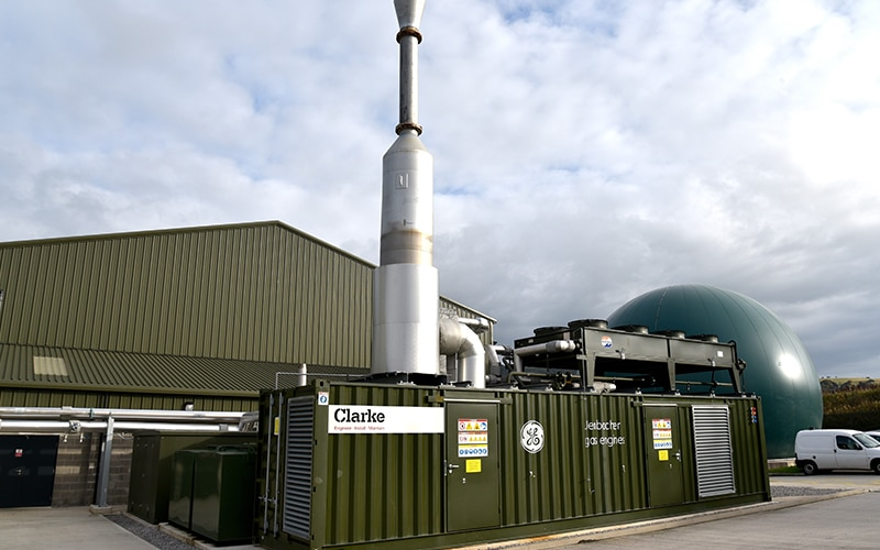 Στα αγγλικά: Biogen food waste anaerobic digestion plant, St Asaph