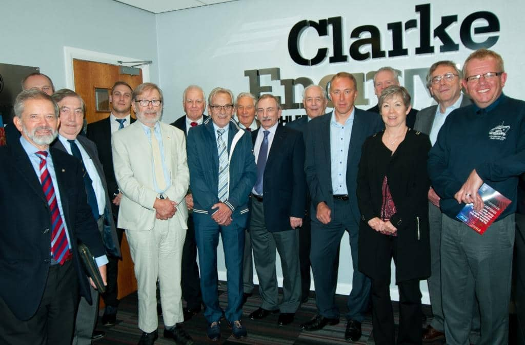 Photograph of IDGTE members at Clarke Energy's headquarters in Knowsley