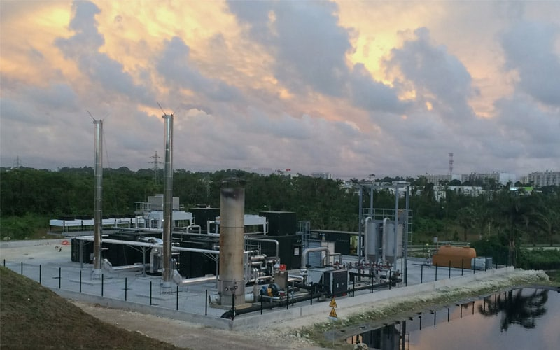 Στα αγγλικά: La Gabarre landfill gas power plant, Guadeloupe