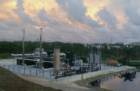 La Gabarre landfill gas power plant, Guadeloupe