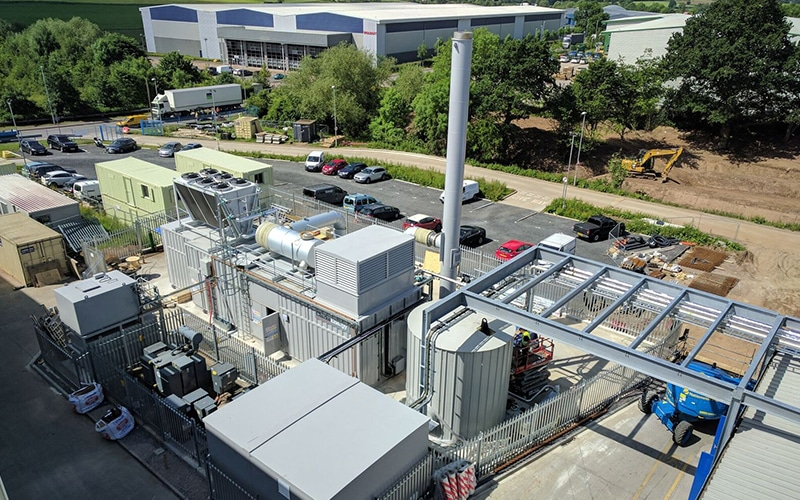 Plastic Omnium, BasePower, CCHP plant, UK