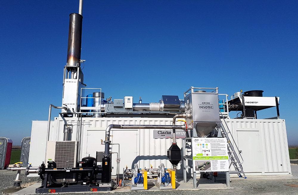 Στα αγγλικά: Biogas-fuelled Combined Heat Power Plant Installed at SAS Demeter Energies