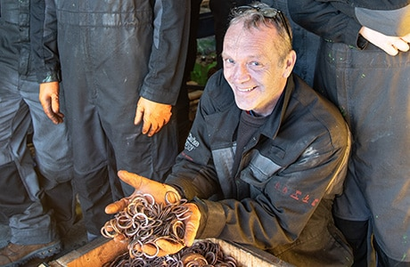 Stuart Lucas Cashes in Copper Collection for Zoë's Place Children's Charity