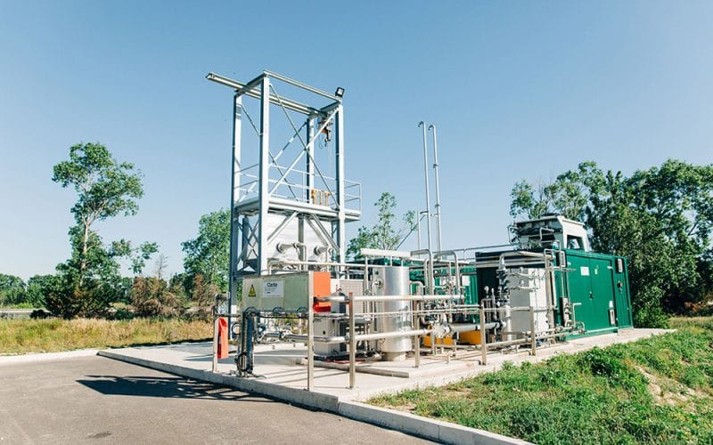 In engleza: First Biogas Upgrading Installation at Perpignan Sewage Plant in France