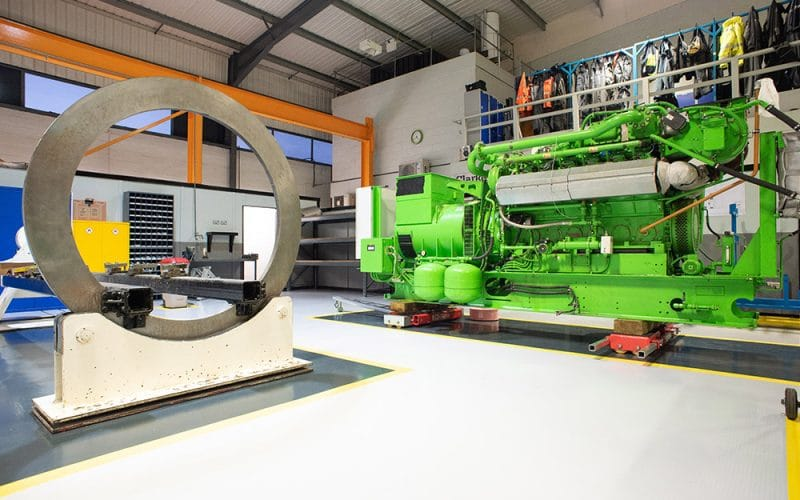En anglais: Investment into Overhaul and Repair Centre at Clarke Energy Headquarters