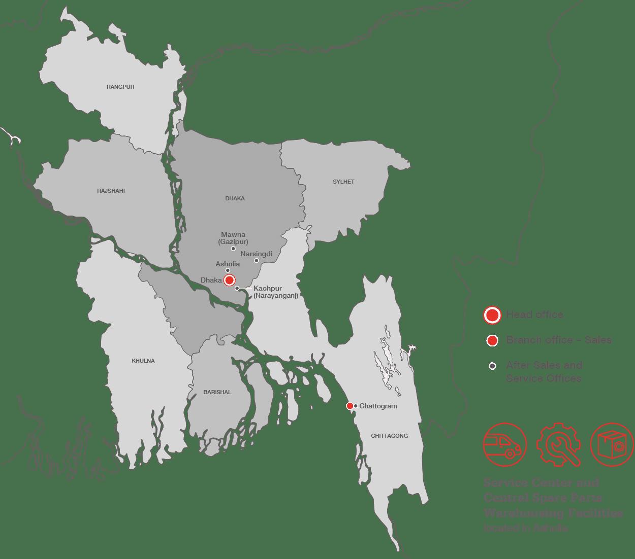 Clarke Energy Regional Facilities in Bangladesh