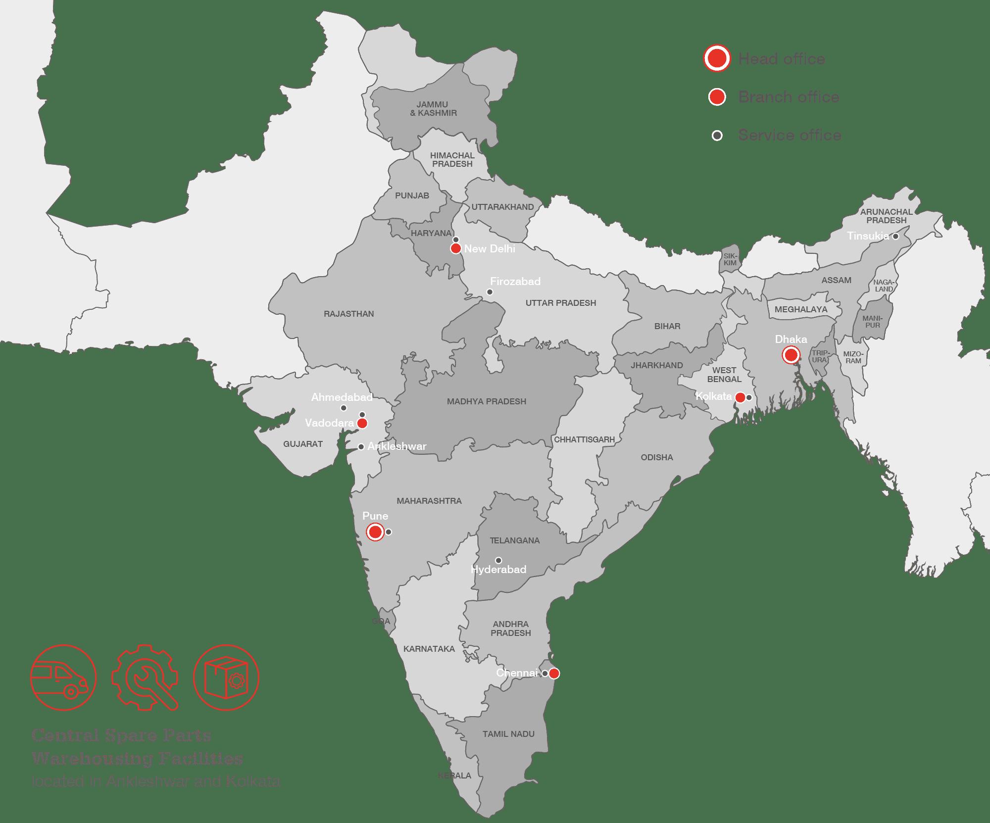 Clarke Energy India Service Coverage