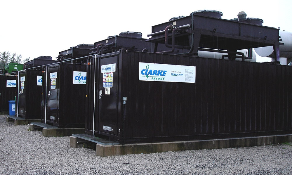 Landfill gas gensets installed at Risley, Cheshire.