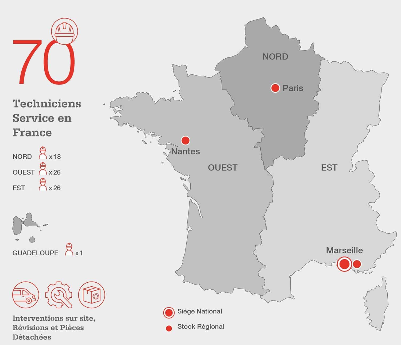 Clarke Energy France Map