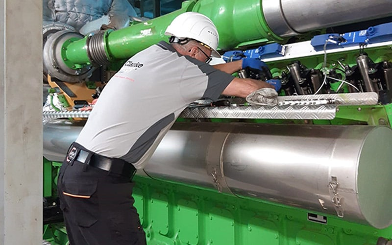 Στα αγγλικά: Third Jenbacher Type-6 Engine Installed at Romanian Sewage Plant
