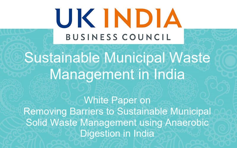 En anglais: White Paper – Sustainable Municipal Waste Management in India