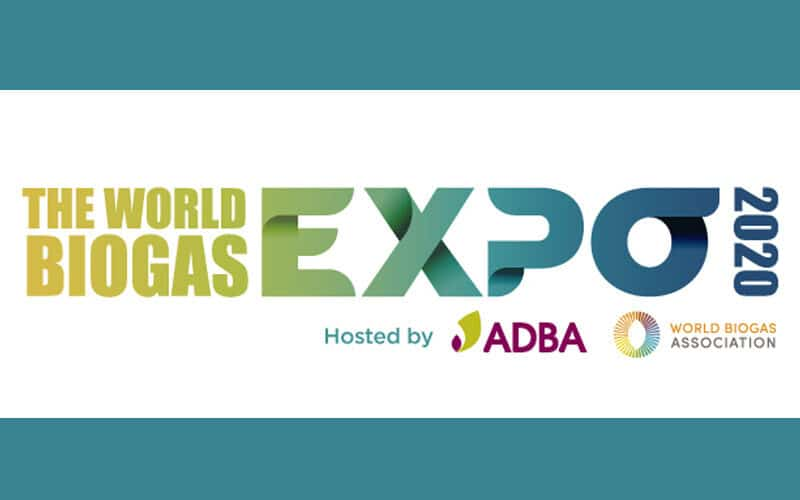 Στα αγγλικά: The World Biogas Expo 2020 | Hosted by ADBA and WBA | 6th – 8th October