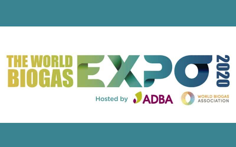 Στα αγγλικά: The World Biogas Expo 2020 | Hosted by ADBA and WBA | 6th – 8th October