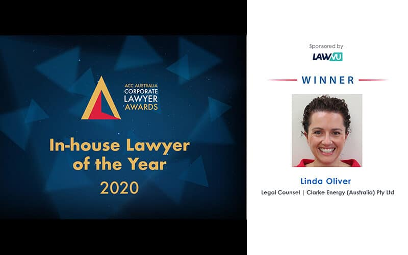Clarke Energy's Legal Counsel, Linda Oliver, Wins In-house Lawyer of the Year 2020