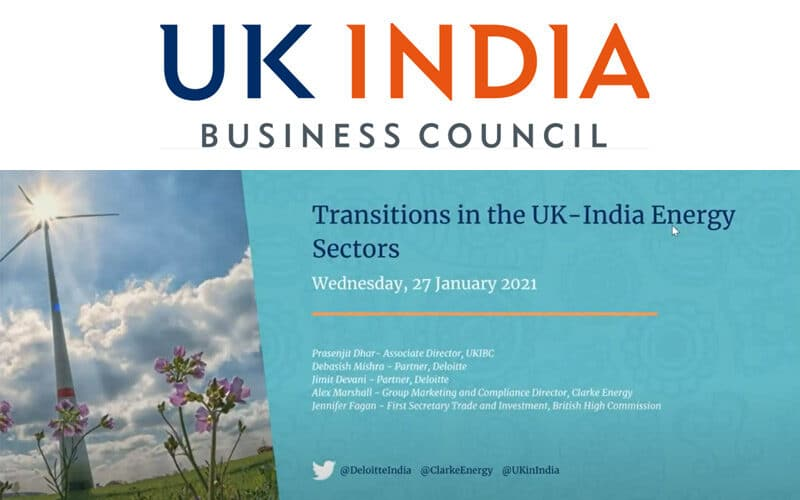 In engleza: Webinar | Transitions in the UK-India Energy Sectors | UK India Business Council