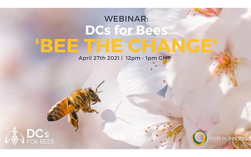 Webinar: DCs for Bees 'Bee The Change' | April 27th 2021 | Host In Ireland