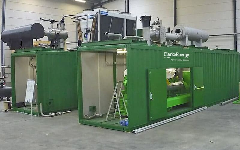 In engleza: Containerised Cogeneration Solutions from Clarke Energy