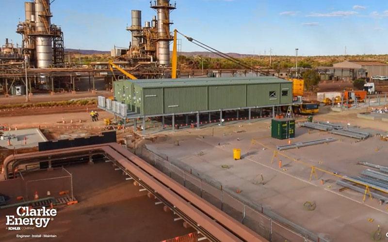 In engelza: Alinta Energy's Newman Power Station Taking Shape with Clarke Energy