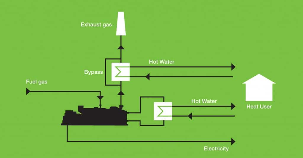 Biogas CHP Schematic with EGHE
