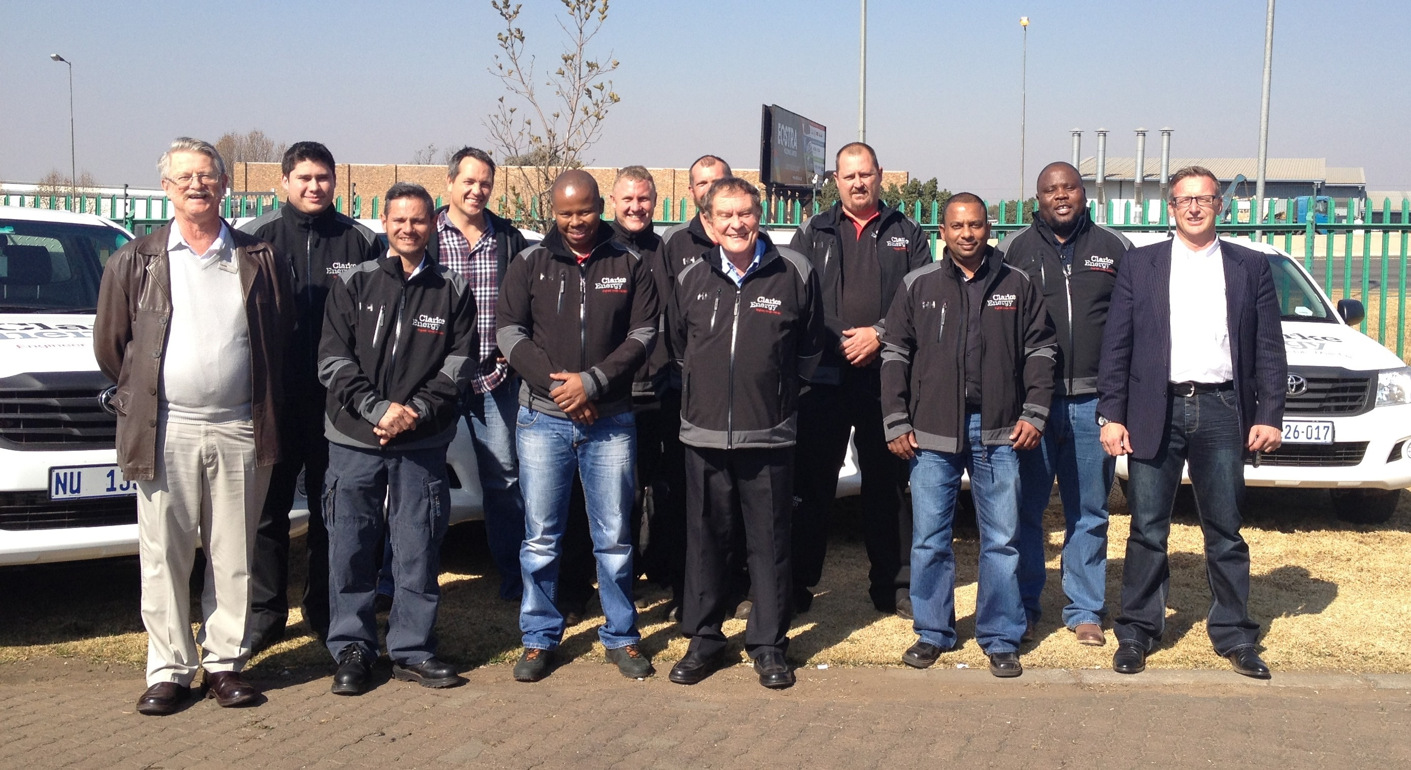 A photo of Clarke Energy's South African team