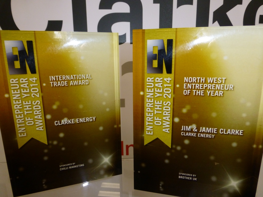 Clarke Energy wins 2 EN Awards