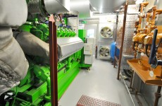 View the CHP engine enclosure feeding district heating network