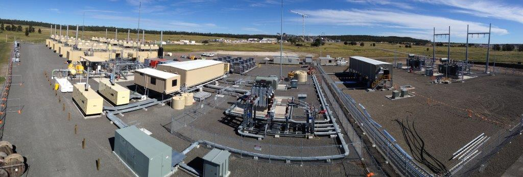 Panorama of APLNG coal seam gas power / LNG power plant