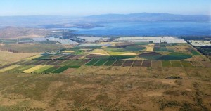 Aerial shot of Gorge Farm and Lake Naivasha, location where the Kenyan biogas plant will be located