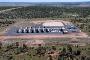 An aerial view of moranbah coal gas power plant phase 1