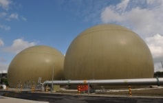 Biogas Holders at Davyhulme WWTP, Manchester